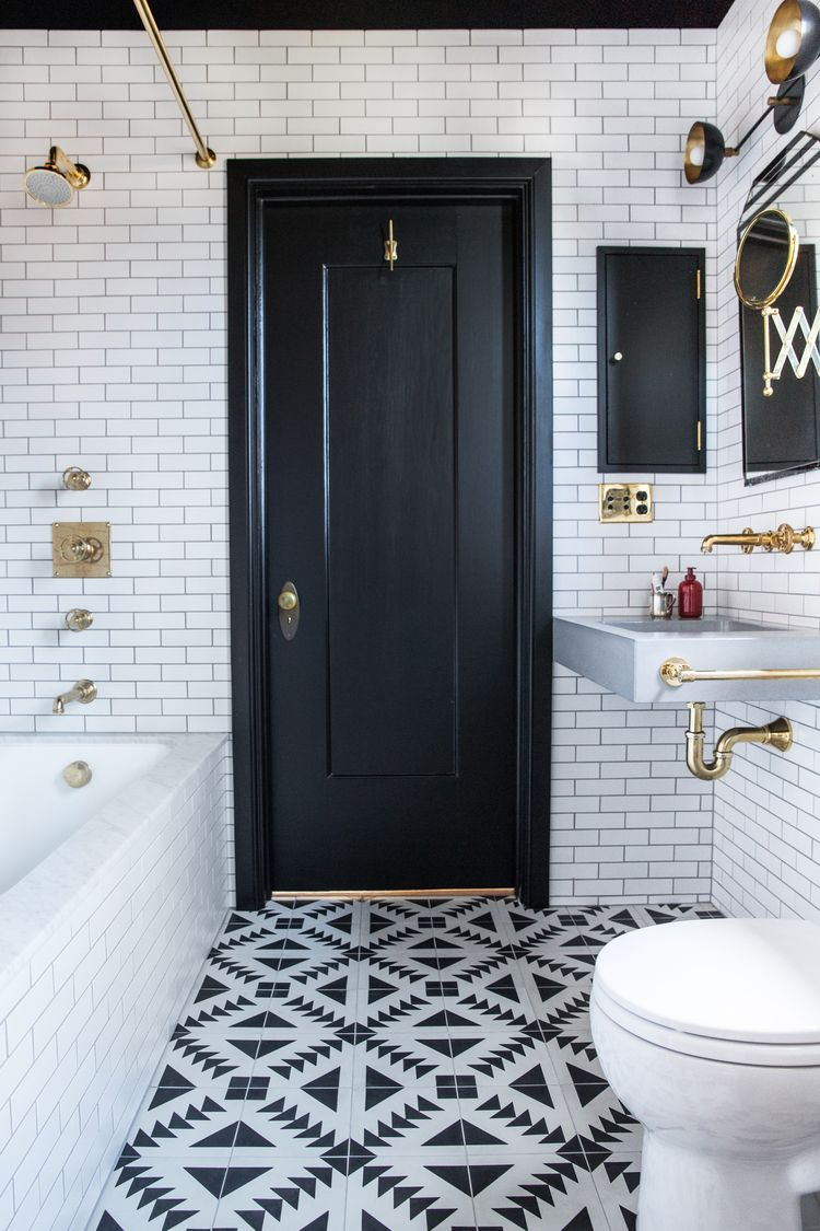 Popular Black And White Bathroom Pictures Ideas