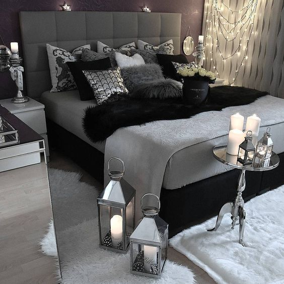 Admirable Black And Grey Bedroom Ideas
