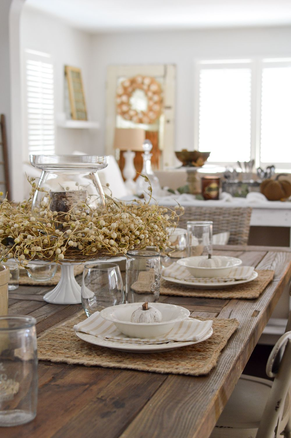 Affordable Fall Kitchen Table Decor Ideas