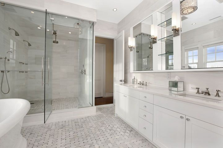 Awesome White Marble Bathroom Ideas