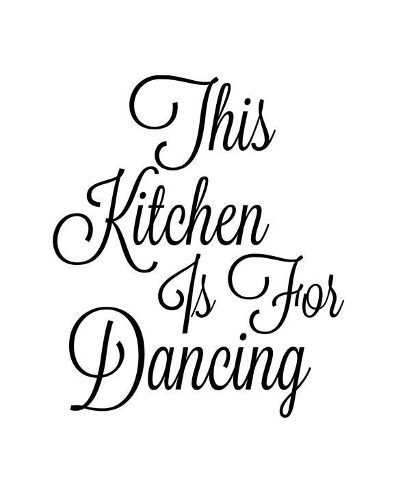 Inspiring This Kitchen Is For Dancing Ideas