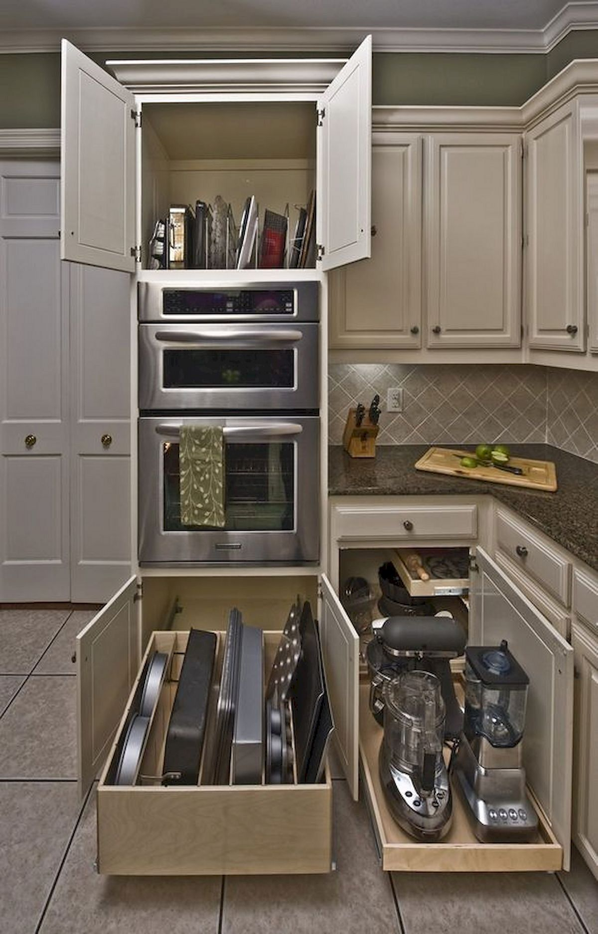Awesome Kitchen Pull Out Drawers Ideas