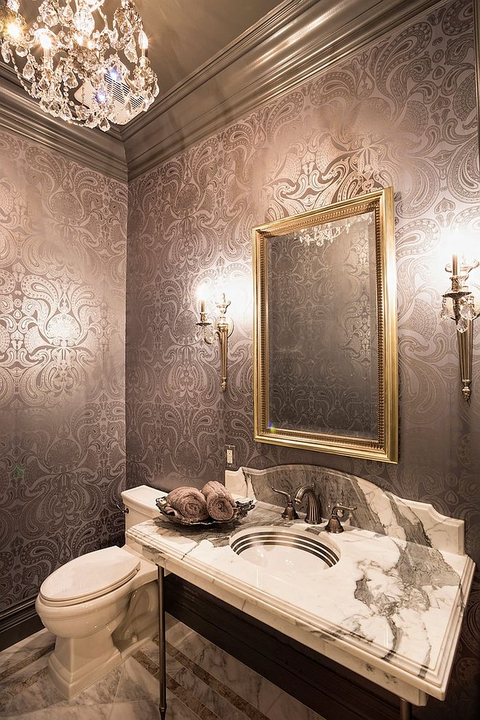 Gorgeous Bathroom Wall Paper Ideas