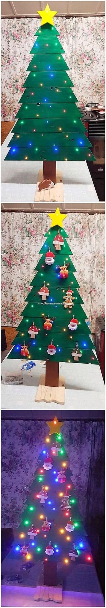 Awesome Pallet Wood Christmas Tree Ideas