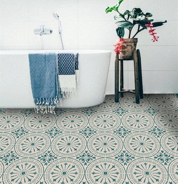 Beautiful Bathroom Floor Tile Stickers Ideas