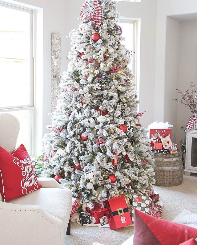 Awesome 9 Ft Flocked Christmas Tree Ideas