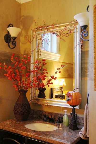 Wonderful Fall Bathroom Decor Ideas