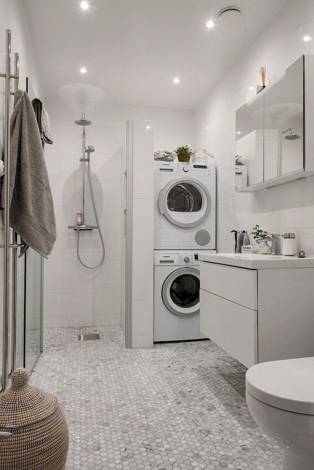 Awesome Laundry In Bathroom Ideas