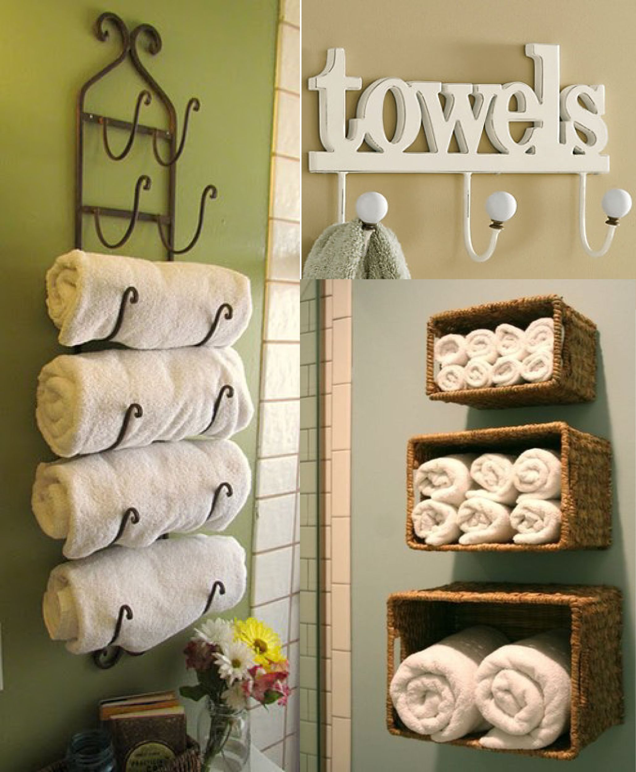 Amazing Bathroom Towel Storage Ideas