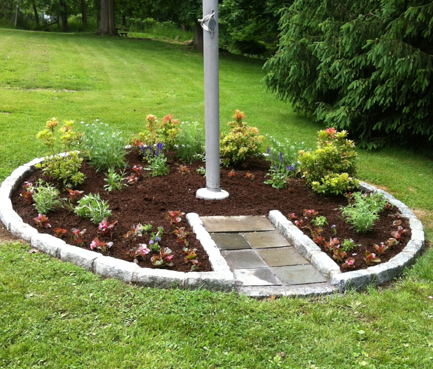 Awesome Flag Pole Garden Ideas