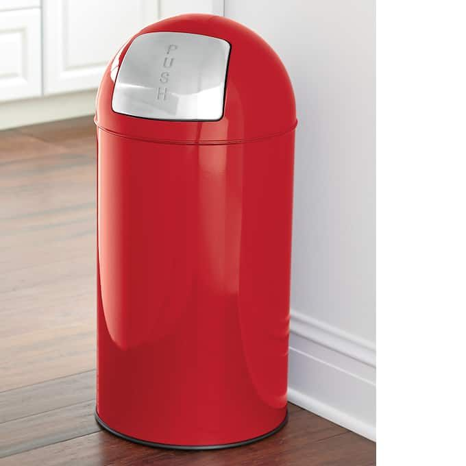 Inspiring Red Kitchen Trash Can Ideas