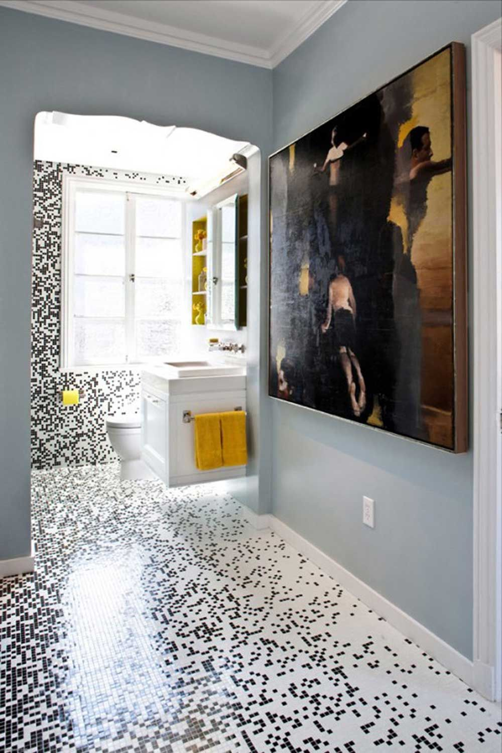 Beautiful Mosaic Bathroom Floor Tiles Ideas