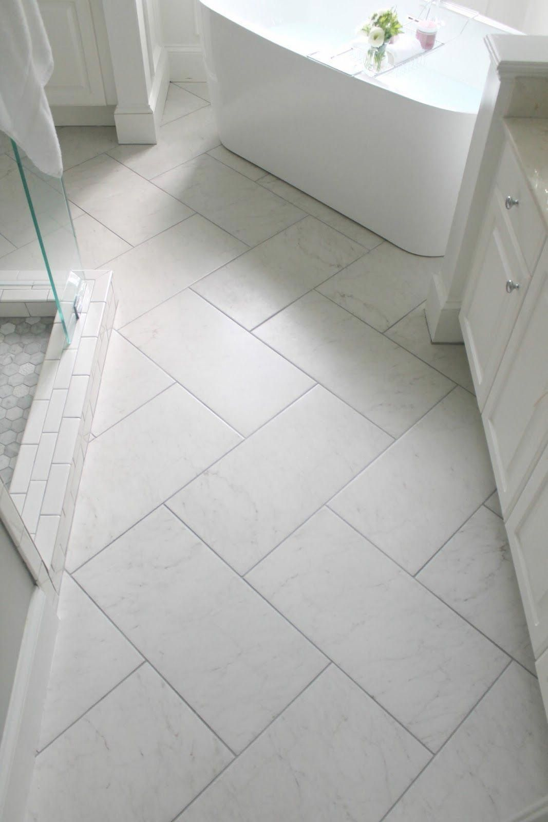 Awesome Herringbone Tile Bathroom Floor Ideas