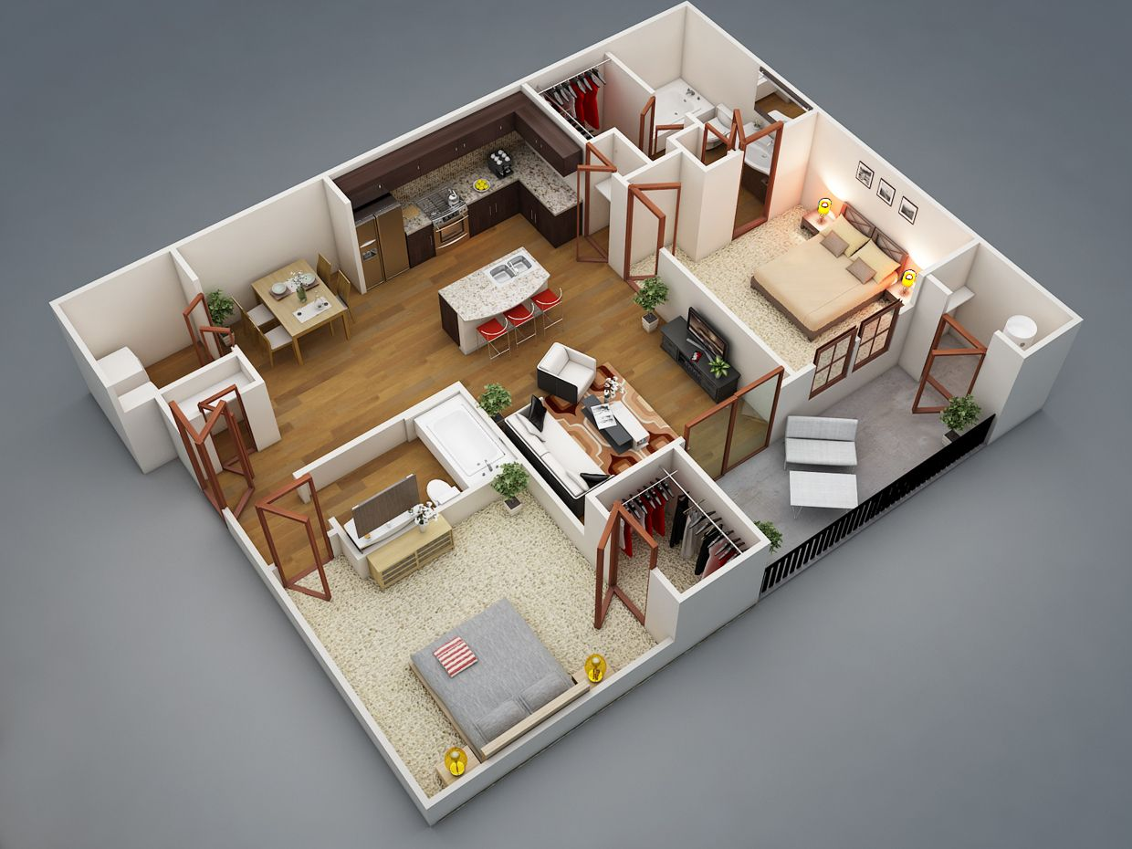 Awesome Small 2 Bedroom House Plans Ideas