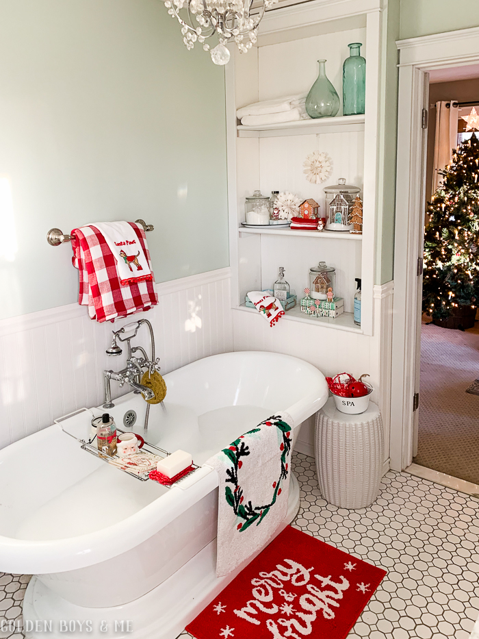 Fabulous Christmas Bathroom Rugs Ideas