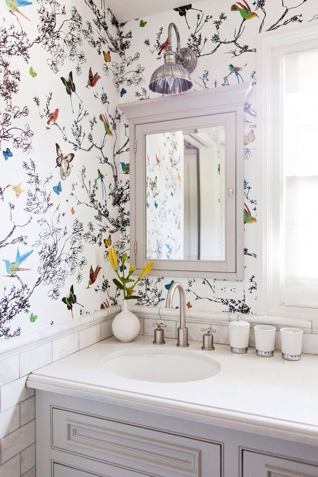 Amazing Wallpaper For Bathroom Walls Ideas