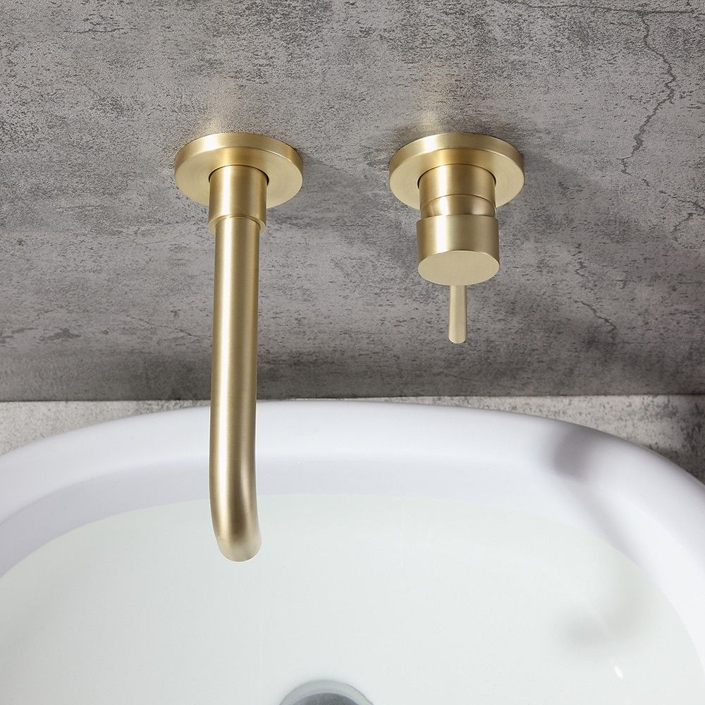 Fabulous Brushed Brass Bathroom Faucet Ideas