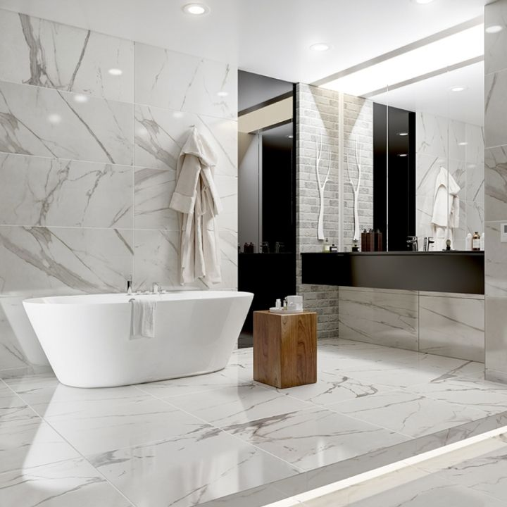 Gorgeous Marble Bathroom Floor Ideas