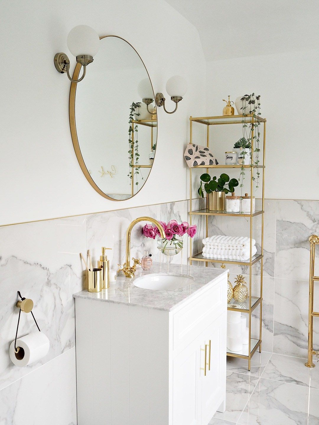 Wonderful Gold Bathroom Accessories Ideas