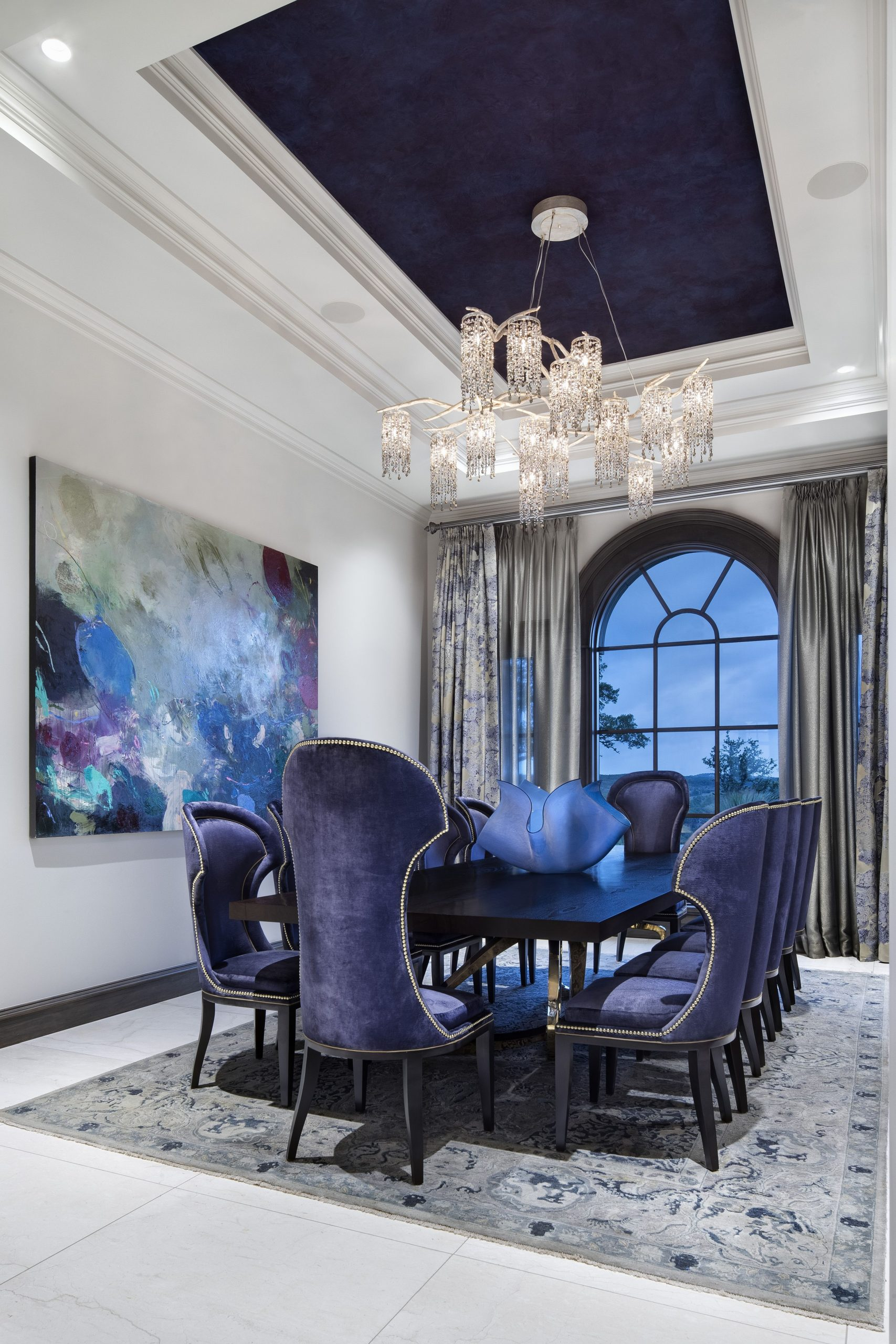 Awesome Blue Dining Room Chairs Ideas